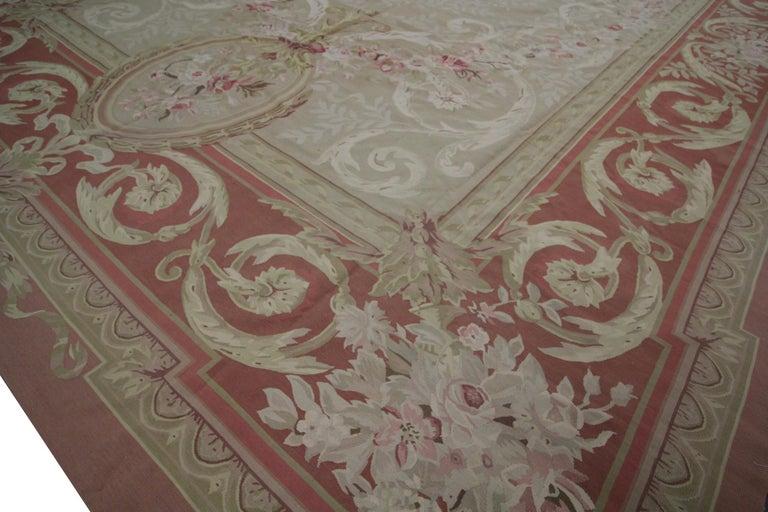 Handmade Carpet Aubusson Style Rug
