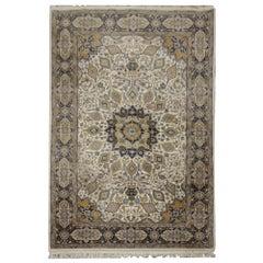 Handmade Carpet, Vintage Living Room Rug, 1970 Floral Oriental Rugs for Sale
