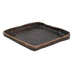 Handmade Cast Bronze Small Tray Inspired by Wabi-Sabi, Trinket Tray