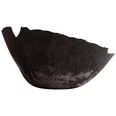 Handmade Cast Concrete Bowl in Black by UMÉ Studio