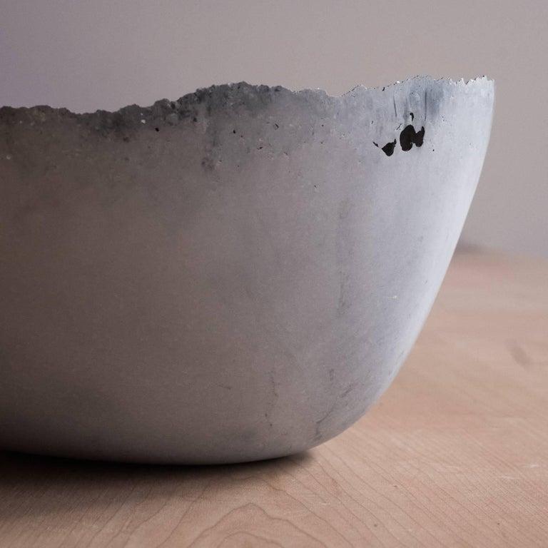 Handmade Cast Concrete Bowl in Grey by UMÉ Studio For Sale 7