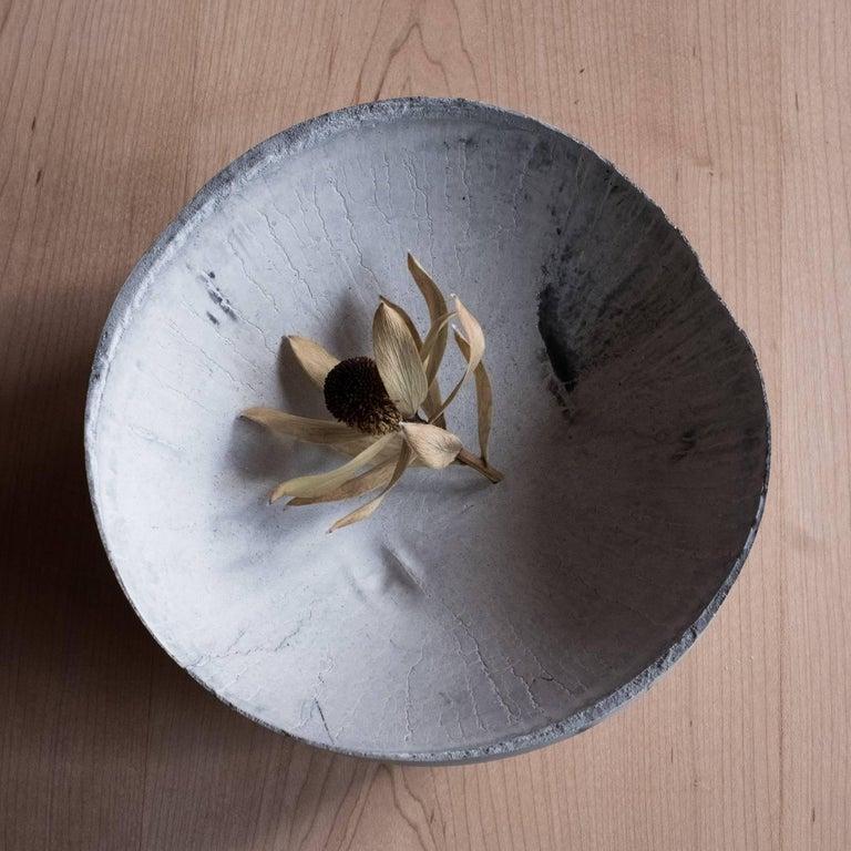 Contemporary Handmade Cast Concrete Bowl in Grey by UMÉ Studio For Sale