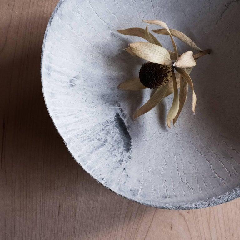 Handmade Cast Concrete Bowl in Grey by UMÉ Studio For Sale 1
