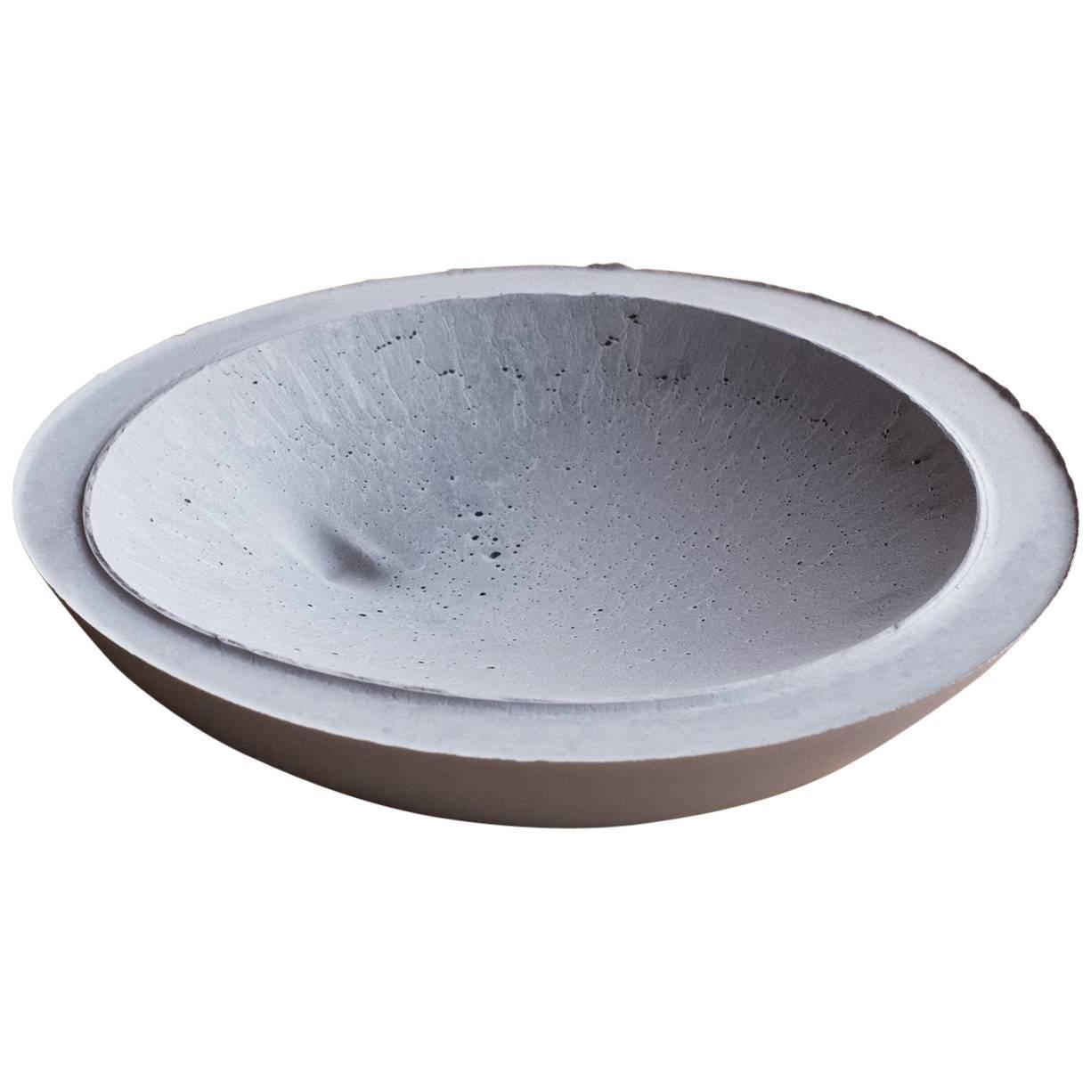 Handmade Cast Concrete Bowl in Grey by UMÉ Studio