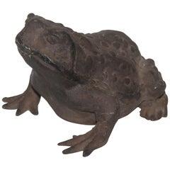 Handmade Cast Iron Frog Door Stop