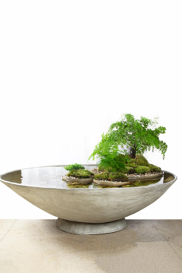Modern Ukiyo Saucer, Concrete Fountain/Fishpond by OPIARY (D62