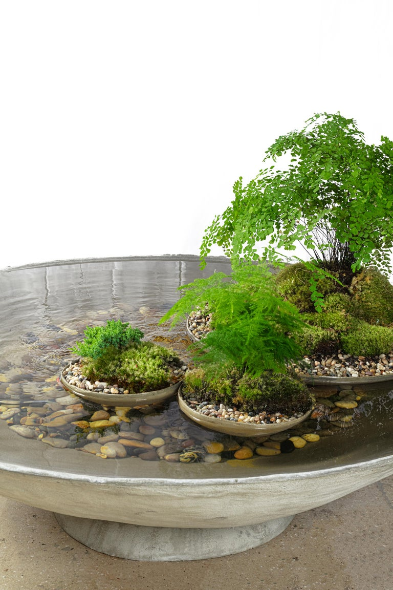 Ukiyo Saucer, Concrete Fountain/Fishpond by OPIARY (D62