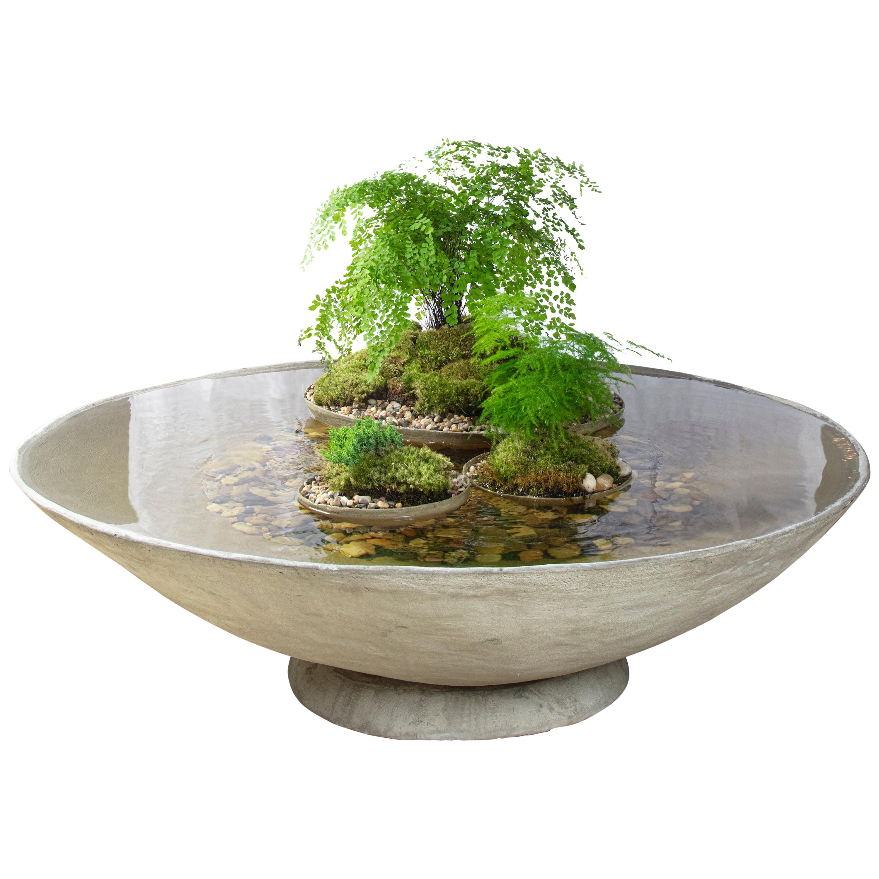 """Ukiyo Saucer, Concrete Fountain/Fishpond by OPIARY (D50"""")"""