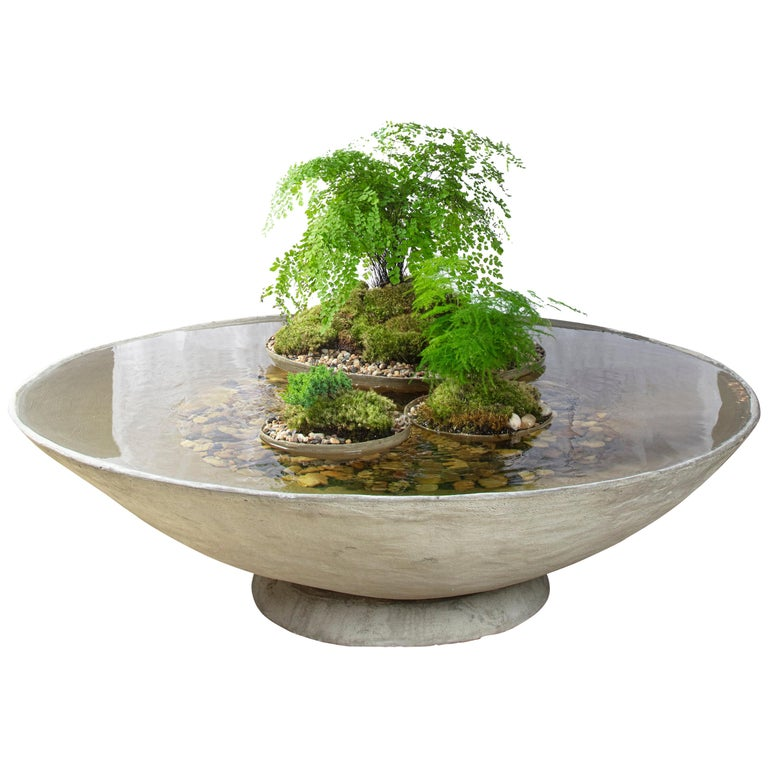 """Ukiyo Saucer, Concrete Fountain/Fishpond by OPIARY (D62"""") For Sale"""