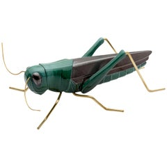 Handmade Ceramic Accessories Grasshopper Green