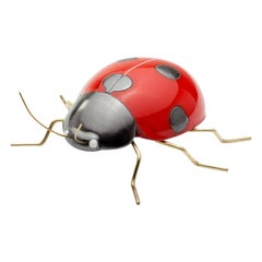 Handmade Ceramic Accessories Ladybug Red