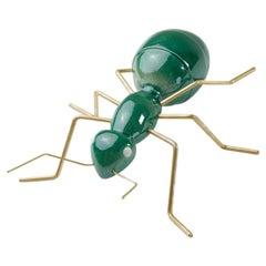Handmade Ceramic Home Accessory Sculpture Ant Green, in Stock