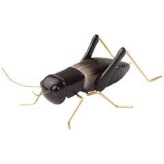 Handmade Ceramic Home Accessory Sculpture Cricket Black, in Stock