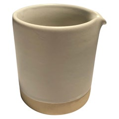 Handmade Ceramic Matte Creamer in White, in Stock