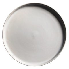 Handmade Ceramic Matte Dinner Plate in White, in Stock