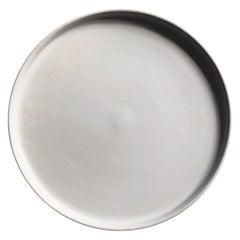 Handmade Ceramic Matte Dinner Plate in White, in Stock