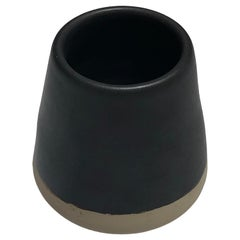 Handmade Ceramic Matte Espresso Cup in Black, in Stock
