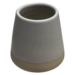 Handmade Ceramic Matte Espresso Cup in White, in Stock