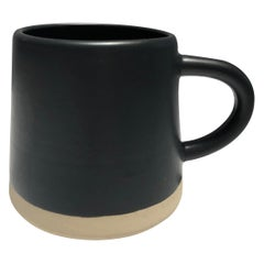 Handmade Ceramic Matte Mug in Black, in Stock