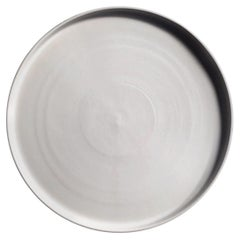 Handmade Ceramic Matte Platter in White, in Stock
