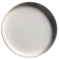 Handmade Ceramic Matte Salad Plate in White, in Stock