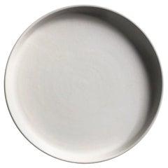 Handmade Ceramic Matte Salad Plate in White, in Stock