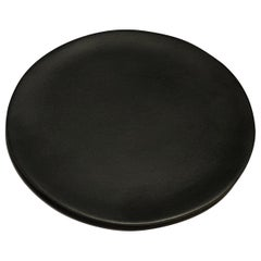 Handmade Ceramic Matte Saucer in Black, in Stock
