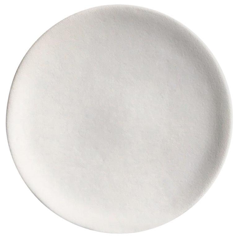 Handmade Ceramic Matte Saucer in White, in Stock