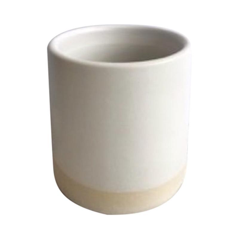 Handmade Ceramic Matte Tumbler in White, in Stock