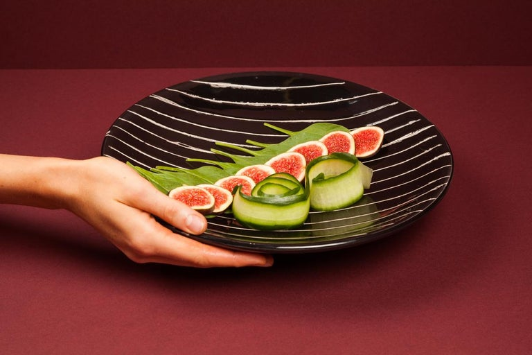 Modern Handmade Ceramic Plate by Miminat Designs 'Okuta Collection' For Sale