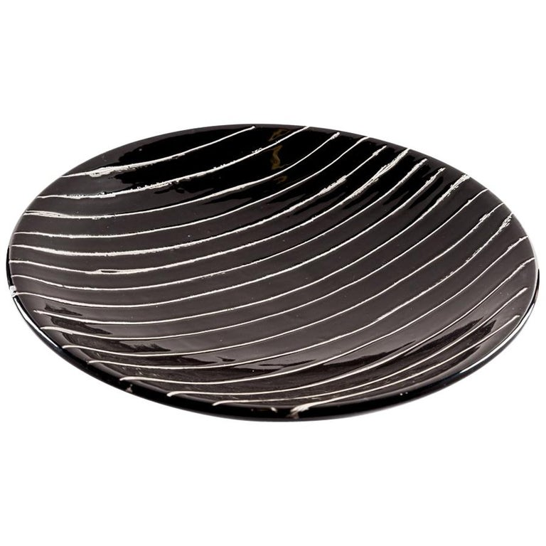 Handmade Ceramic Plate by Miminat Designs 'Okuta Collection' For Sale