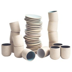 Handmade Ceramic Stoneware Cup in Ivory, In Stock