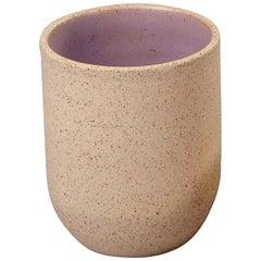 Handmade Ceramic Stoneware Cup in Lavender, in Stock