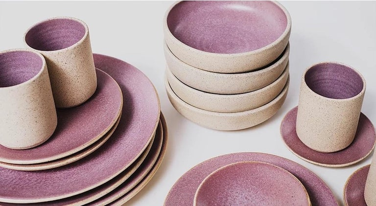 Handmade dinnerware from Tlaquepaque, Jalisco, Mexico, by a family of ceramicists that have been creating handmade earthenware for over 60 years, these pieces are made using multigenerational techniques yet designed for the modern table. Their clean