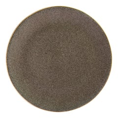 Handmade Ceramic Stoneware Salad Plate in Grey, in Stock