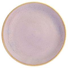 Handmade Ceramic Stoneware Salad Plate in Lavender, in Stock