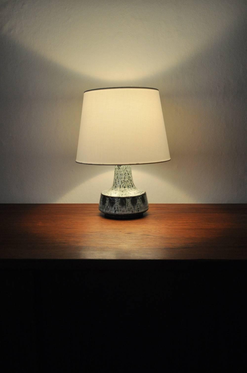 Handmade Ceramic Table Lamp By Søholm, Denmark