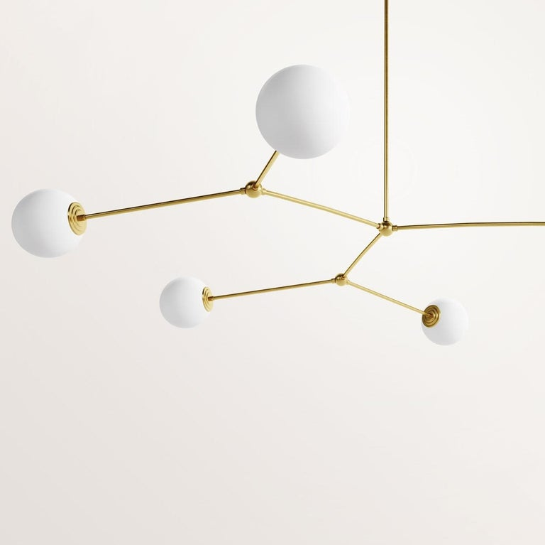 Modern Handmade Chione Chandelier by Gobo Lights For Sale