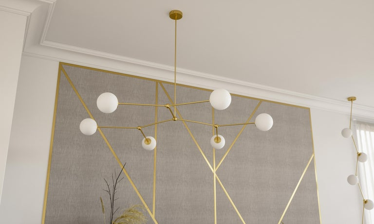 Belgian Handmade Chione Chandelier by Gobo Lights For Sale