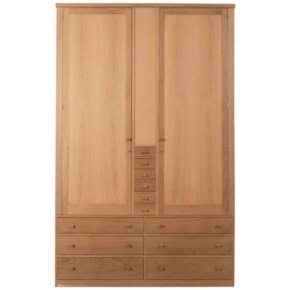 Handmade Clothes Cabinet in Oak Designed by Terence Conran
