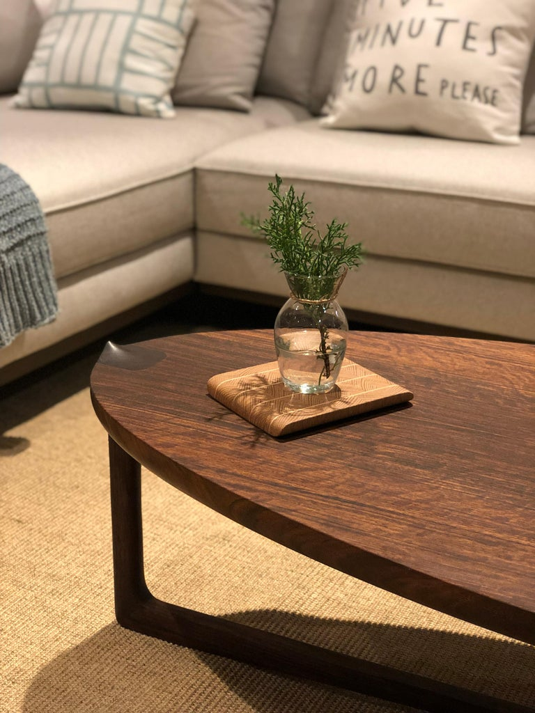 Handmade Coffee Table in Hardwood, Brazilian Contemporary Design For Sale 1
