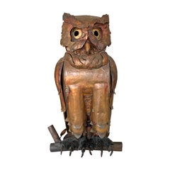 Handmade Copper Owl