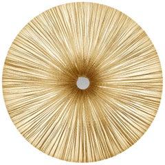 Handmade Cream Pleated Silk Stand by Pendant