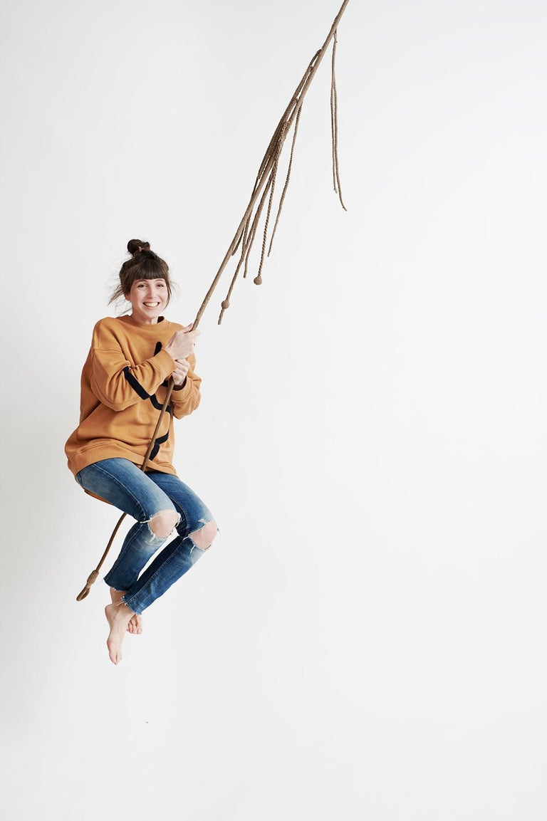 Let your little ones enjoy swinging on the IOTA Tarzan swing. Soaring through the air is super fun, makes you laugh and develops motor skills and balance. This stylish swing inspired by hanging vines will work great in kids' rooms, play areas or the