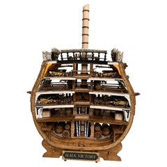 Handmade Cross Section of the 1765 Royal Navy H.M.S. Victory Museum Quality