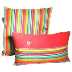 Handmade Cushions, Fabric Designed Alexander Girard for Maharan