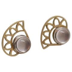 Handmade Custom Eye of Horus Stud Earring by Metaalia Jewelry