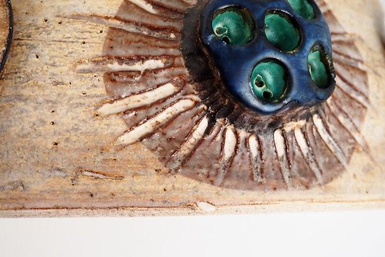 Handmade Danish Ceramic Pendant by Jette Hellerøe for Axella from the 1970s For Sale 8