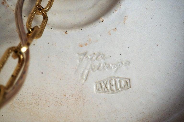 Handmade Danish Ceramic Pendant by Jette Hellerøe for Axella from the 1970s For Sale 1