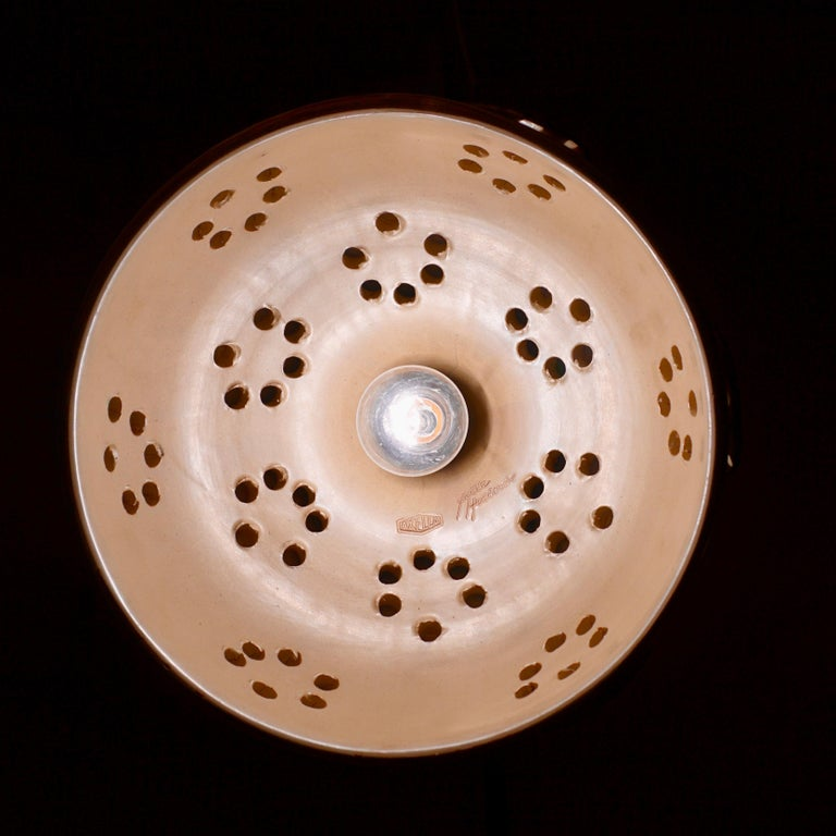Handmade Danish Ceramic Pendant Light by Jette Hellerøe for Axella, 1970s For Sale 15